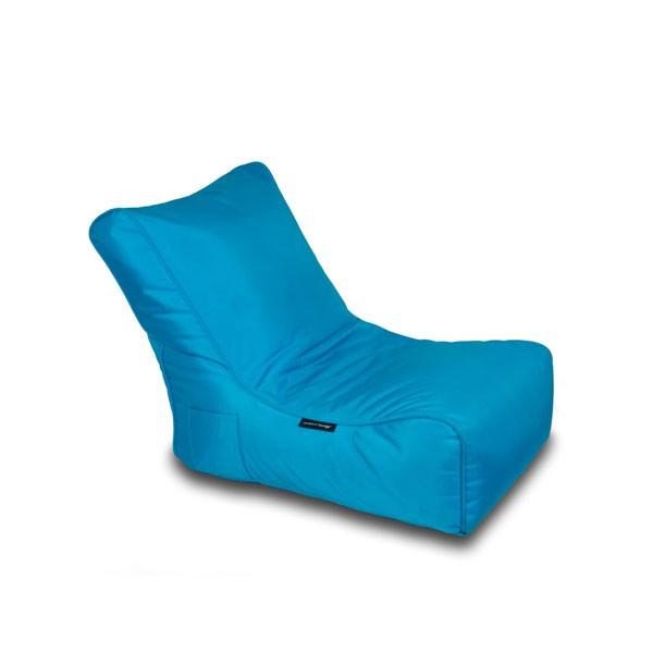 fauteuil pouf evolution ambient lounge bleu jardinchic - Fauteuil Et Pouf