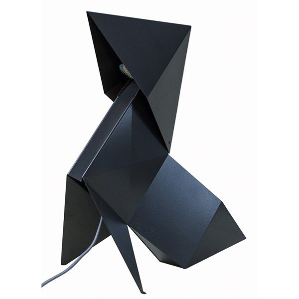 Lampe Origami Cocotte Fanette Gris Platine Nathalie Be JardinChic