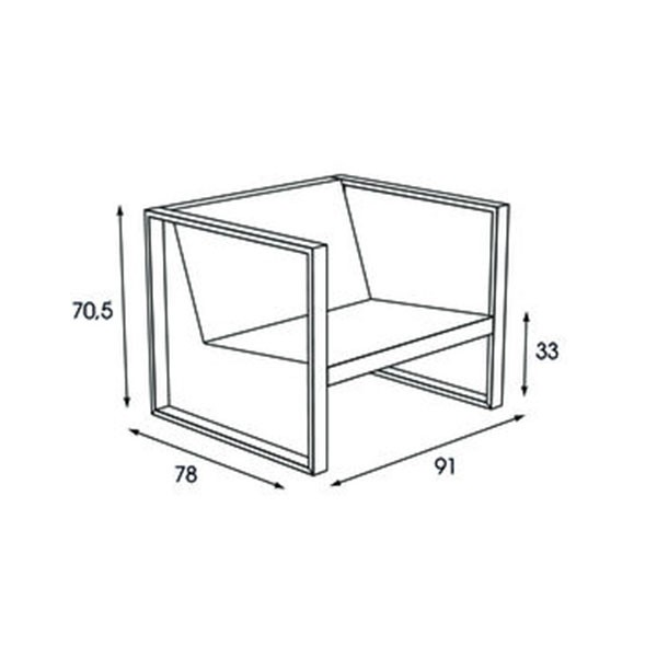 dimensions fauteuil cima lounge fuera dentro jardinchic - Dimension Fauteuil
