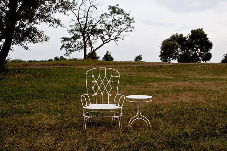 salon de jardin outline banquette fauteuil gu ridon jardinchic. Black Bedroom Furniture Sets. Home Design Ideas