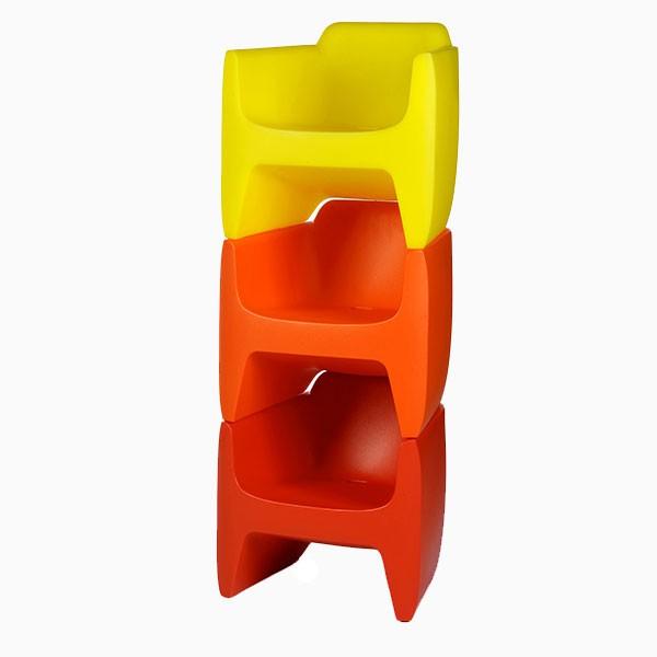 Fauteuil pour enfant -MY FIRST TRANSLATION Noir Rouge Orange Jaune Vert Qui est Paul? JardinChic