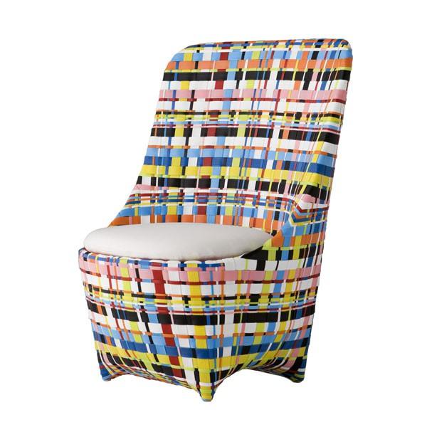 Fauteuil Cape West Multicolore JardinChic - Fauteuil multicolore design