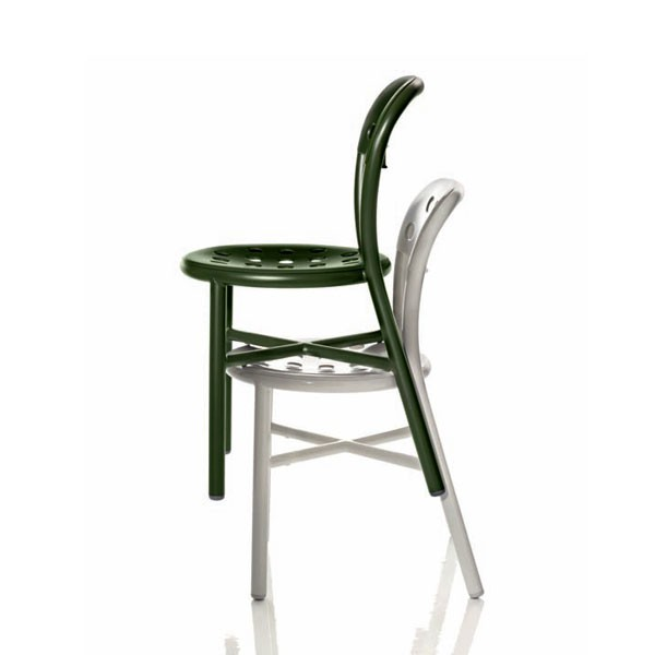 Lot de 2 chaises empilables pipe chair jardinchic for Chaises empilables