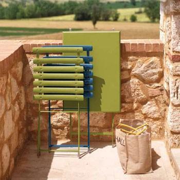 Table Pliable Arc-en-Ciel  Vert Emu JardinChic