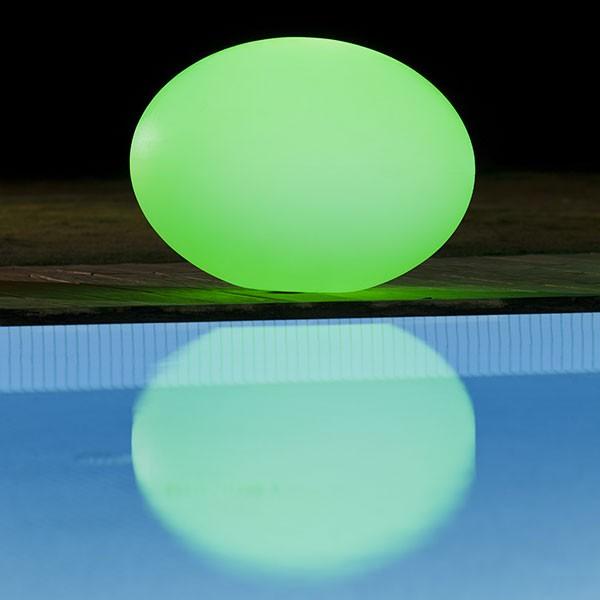 Boule lumineuse flatball m jardinchic - Boule lumineuse pour piscine ...