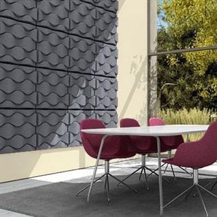 panneau acoustique mural soundwave flo jardinchic. Black Bedroom Furniture Sets. Home Design Ideas
