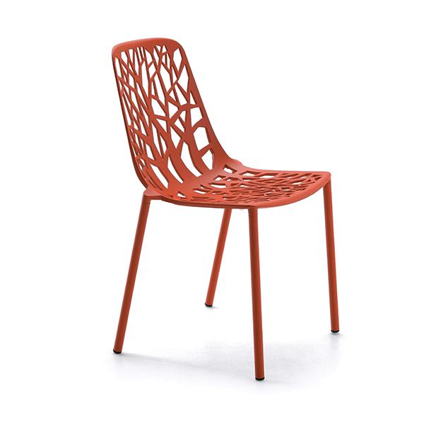 Lot de 4 chaises forest jardinchic - Chaise de jardin rouge ...