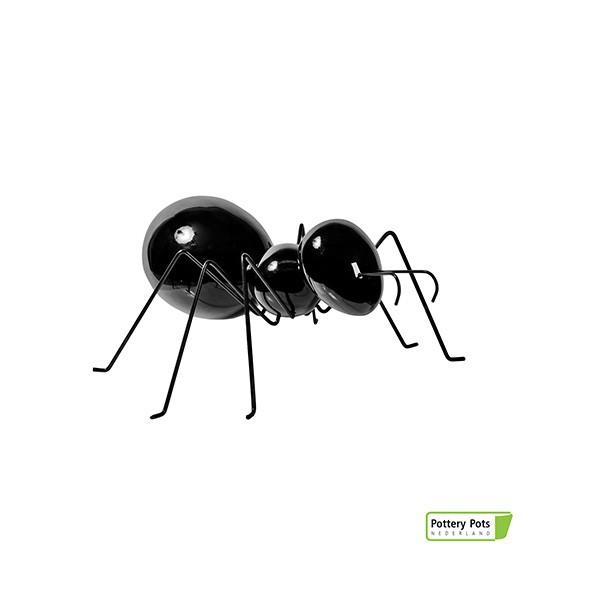Fourmi Déco Ant Laying S Glossy Black Pottery Pots Jardinchic