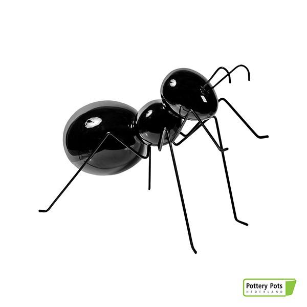 Fourmi Déco Ant Standing M Glossy Black Pottery Pots Jardinchic