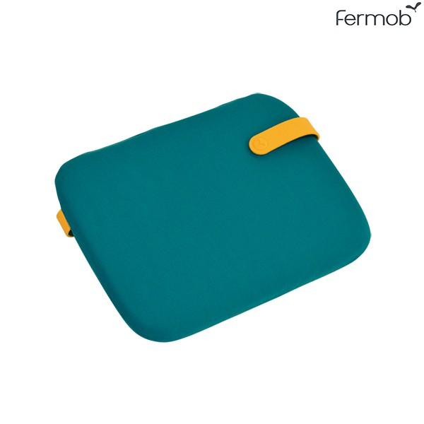 Galette Bistro Color Mix 38x30cm Bleu Goa Fermob Jardinchic
