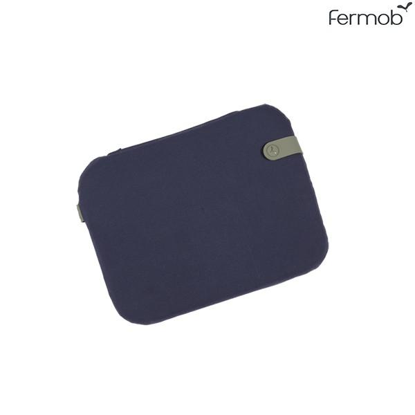 Galette Bistro Color Mix 38x30cm Bleu Nuit Fermob Jardinchic