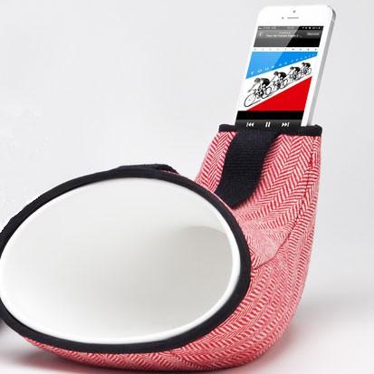 Housse pour Megaphone Mini Tissu Chevrons Rouges En&Is JardinChic