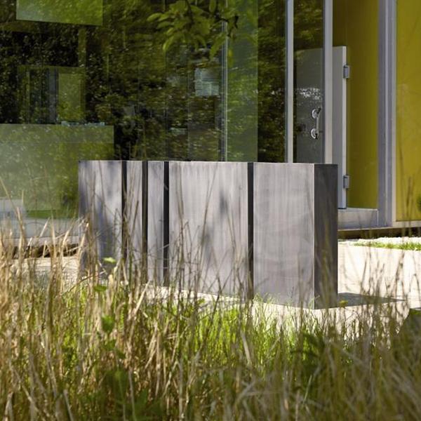 Jardini re zinc haute jardinchic - Jardiniere rectangulaire haute ...