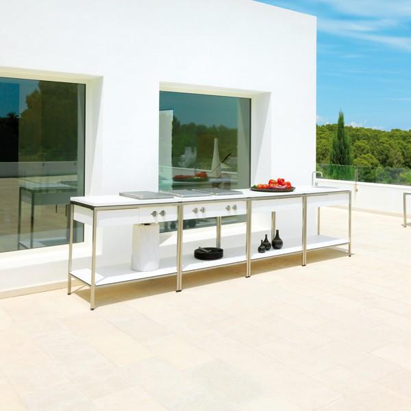 Module cuisine d 39 ext rieur avec grille de cuisson jardinchic for Module cuisine