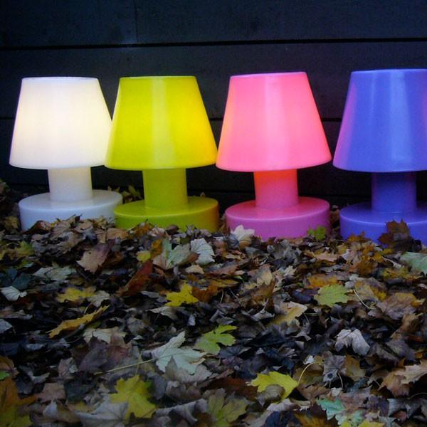 Lampe portable avec batterie rechargeable h28cm jardinchic for Lampe jardin rechargeable