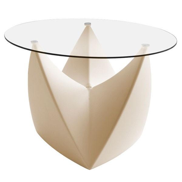 Plateau en verre pour tabouret table basse mr lem - Plateau verre pour table ...