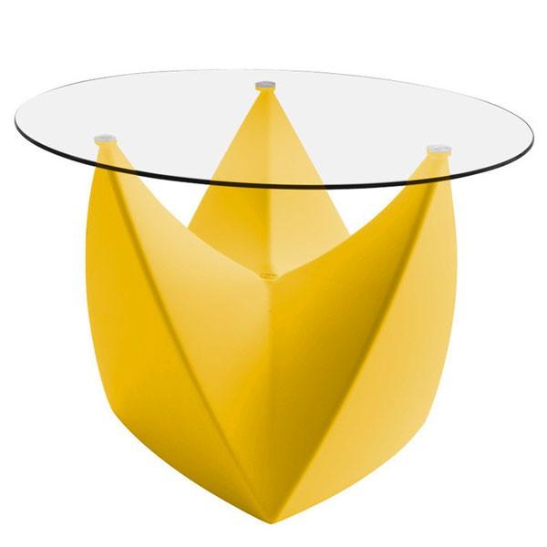 Plateau en verre pour tabouret table basse mr lem - Verre pour table basse ...