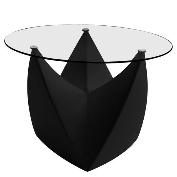 Plateau en Verre pour Tabouret Table Basse Mr. Lem Noir MyYour JardinChic