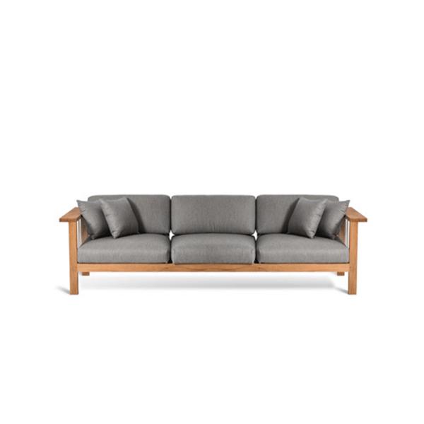 canap 3 places maro teck cordage argile jardinchic. Black Bedroom Furniture Sets. Home Design Ideas