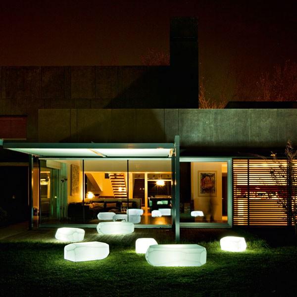 Assise/table Meteor Lumineuse Ambiance Serralunga JardinChic
