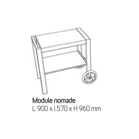 Cuisine d 39 exterieur module nomade jardinchic for Module exterieur