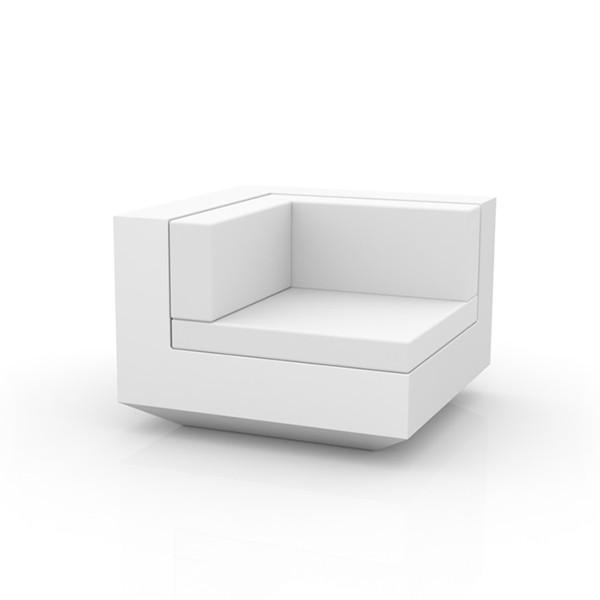 Canapé Modulable Vela - Module d'angle Blanc Vondom Jardinchic
