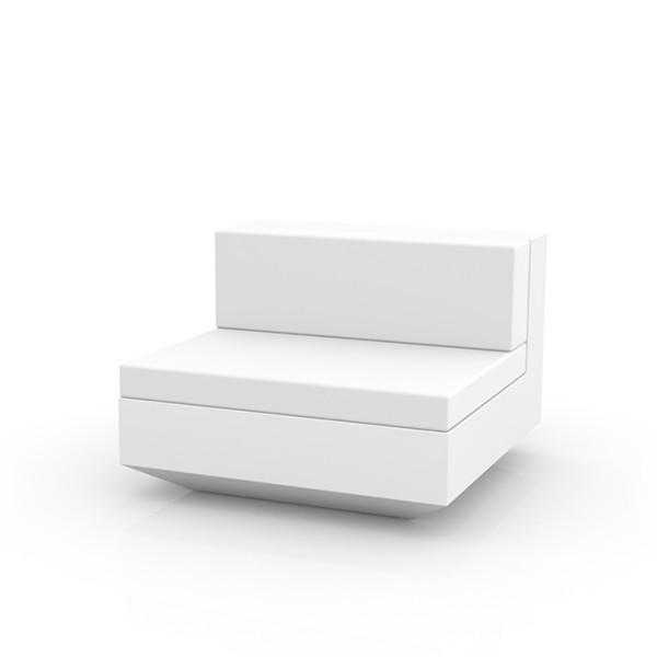 Canapé Modulable Vela - Module Central Blanc Vondom Jardinchic