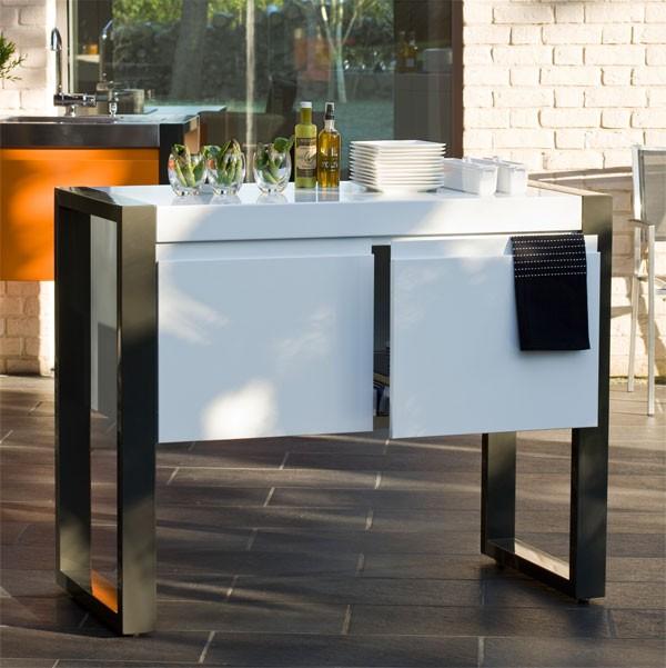 cuisine d 39 exterieur avec plancha 1200 jardinchic. Black Bedroom Furniture Sets. Home Design Ideas