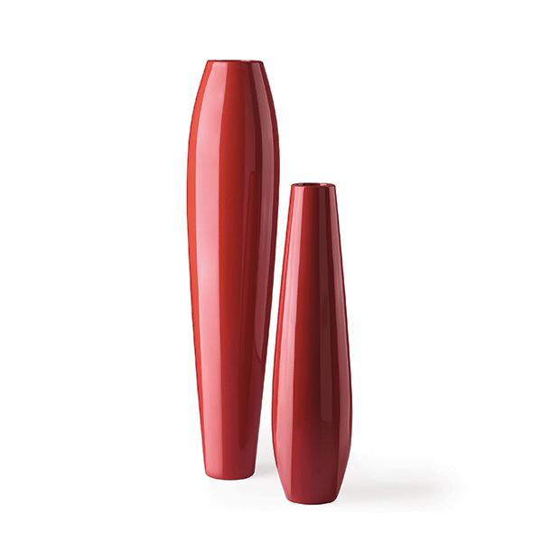 Pot Nicole 126 et 175 Laqué Rouge Oriental Plust Jardinchic
