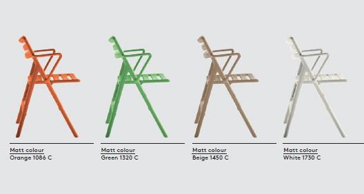 Nuancier Chaise Pliante Air Chair Version Avec Accoudoirs Vendue Sparment Magis JardinChic