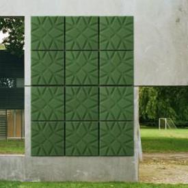 panneau acoustique mural soundwave geo jardinchic. Black Bedroom Furniture Sets. Home Design Ideas