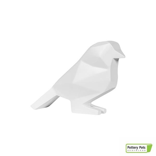 Oiseau Origami Bird Paper Format S Matt White Pottery Pots Jardinchic
