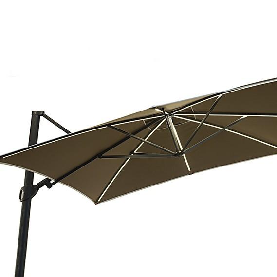 Parasol Easy Shadow Anthracite LED Vlaemynck Jardinchic