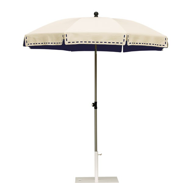 Parasol Couture Ecru Intérieur Bleu Nuit Sywawa JardinChic