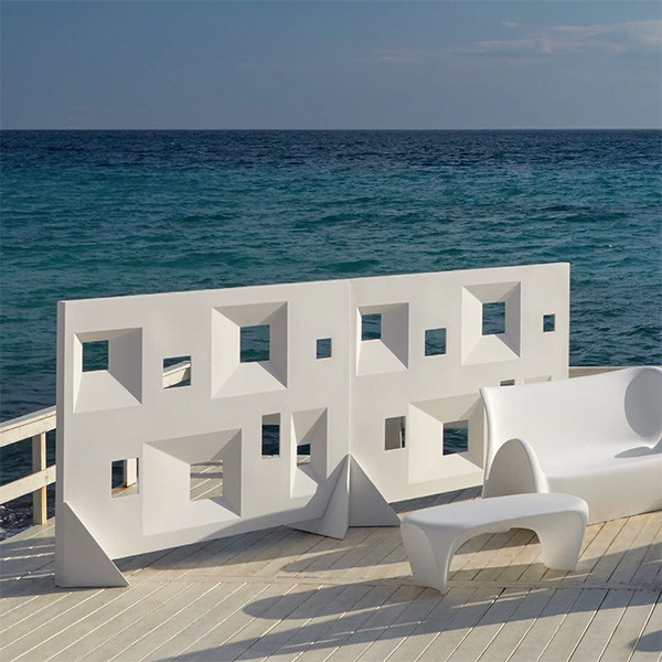 Paravents Frames Blanc avec Canapé et Table basse Lily Blanc (vendus séparément) MyYour JardinChic