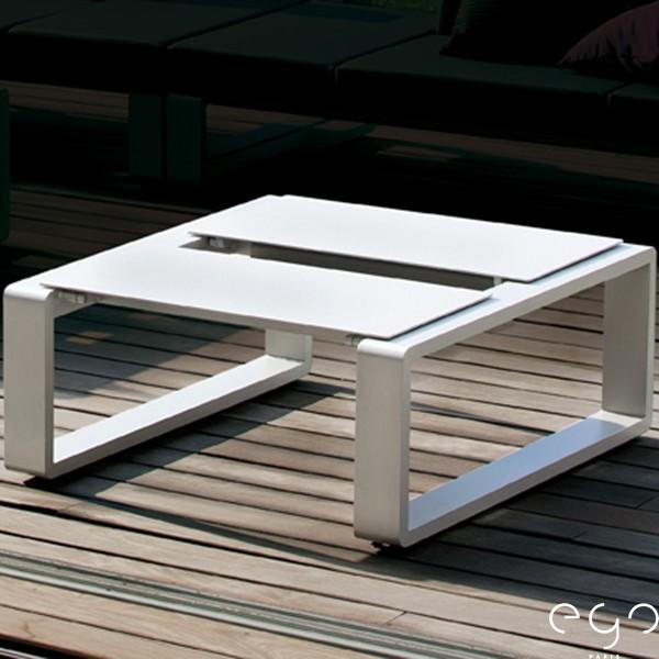 Petite Table Modulable Kama (Structure Laque Blanc sur demande) Duo Ego Paris JardinChic