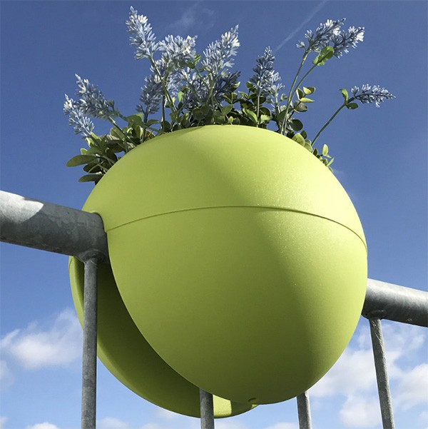 Pot de Balcon Ballcony Bloomball Lime Rephorm Jardinchic