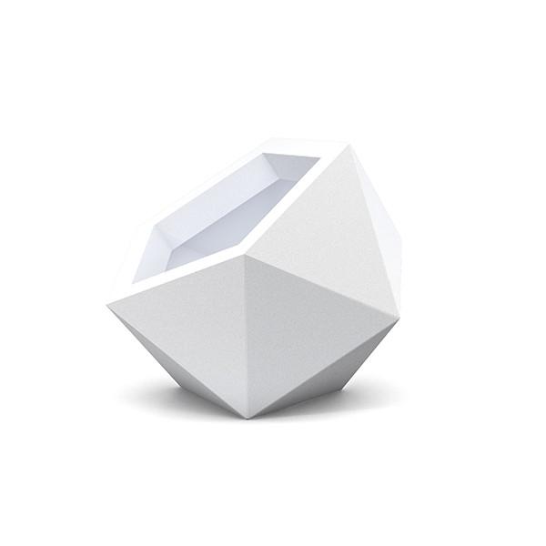 Cache pot design blanc