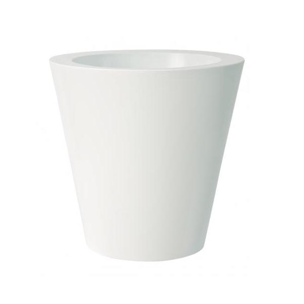 Pot Kuno Gloss Blanc Pot Euro3Plast JardinChic