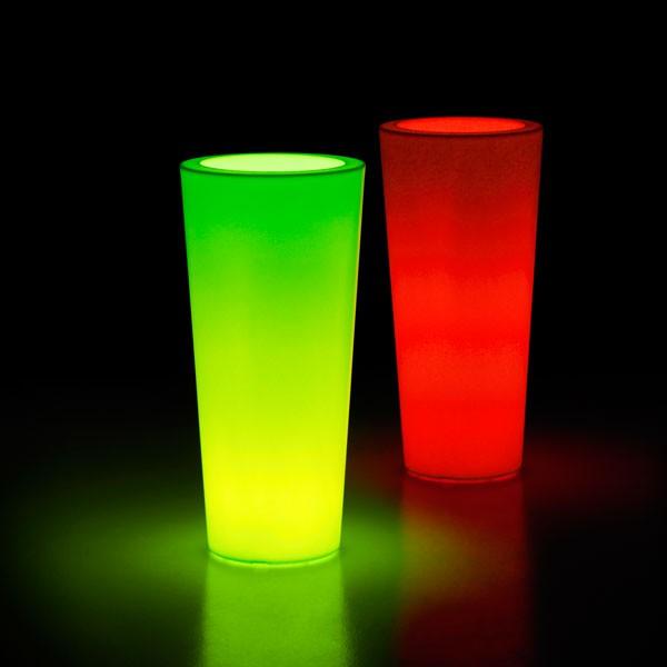 Pot Ilie Lumineux LED RGB Rouge Vert Euro3Plast JardinChic