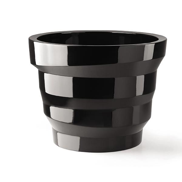 Pot  Rebelot 55 Laqué Noir Plust Jardinchic