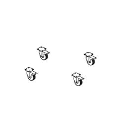 4 roulettes pour Base à dalles Umbrosa Jardinchic