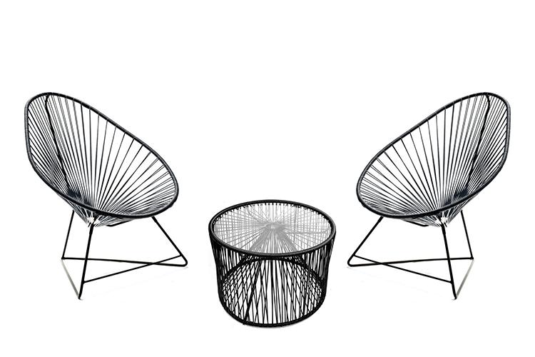 salon de jardin 2 fauteuils acapulco 1 table basse. Black Bedroom Furniture Sets. Home Design Ideas
