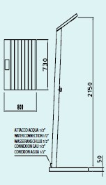 douche d 39 ext rieur solaire solaris t te de douche encastr e inox avec base jardinchic. Black Bedroom Furniture Sets. Home Design Ideas