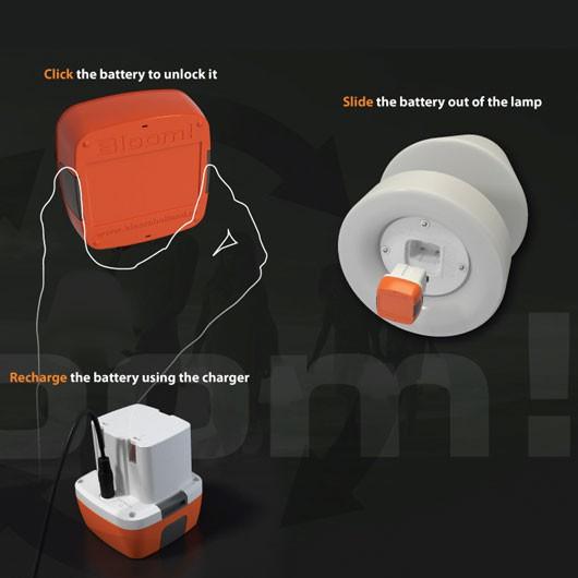 lampe portable avec batterie rechargeable h28cm jardinchic. Black Bedroom Furniture Sets. Home Design Ideas