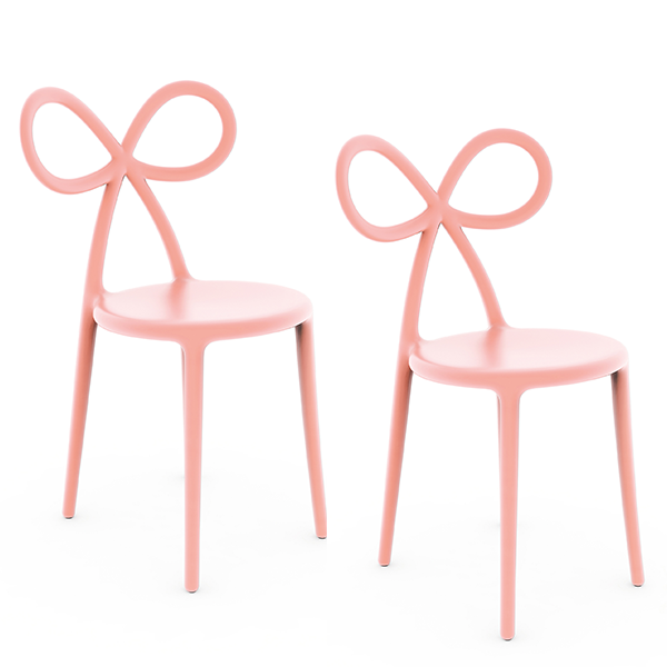 Set de 2 Chaises Ribbon Pink Qeeboo Jardinchic