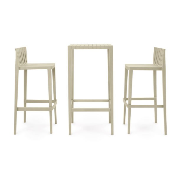 Set De 2 Tabourets Hauts + 1 Table Haute Spritz - JardinChic