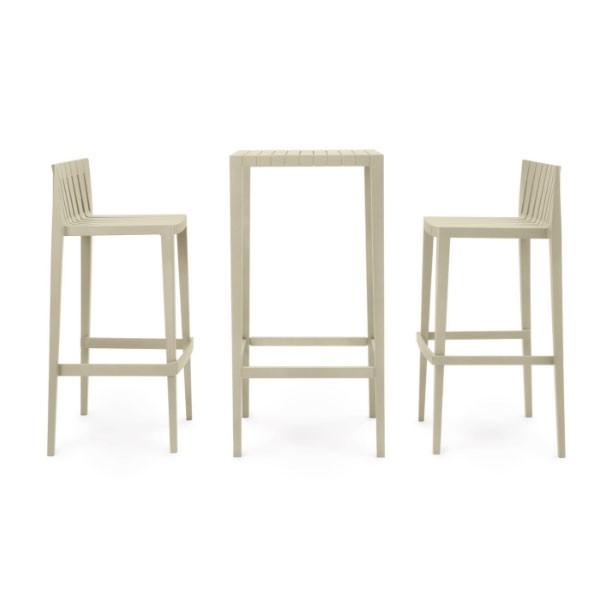 Set De 2 Tabourets Hauts & 1 Table Haute Spritz Vondom JardinChic