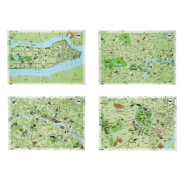 bloc 50 sets de table en papier 39 world dinners maps 39 jardinchic. Black Bedroom Furniture Sets. Home Design Ideas