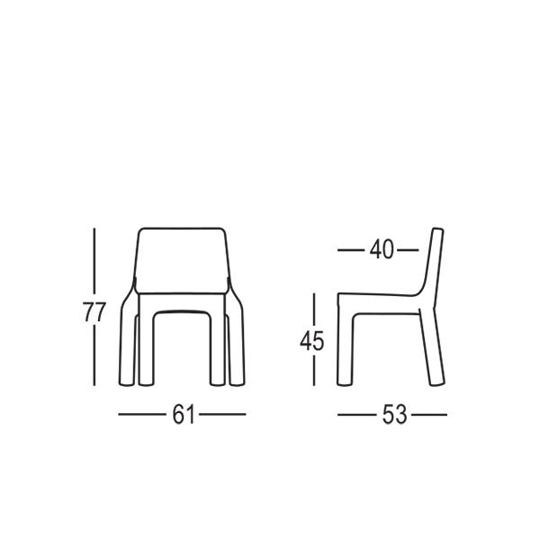Chaise de repas simple jardinchic for Chaise simple